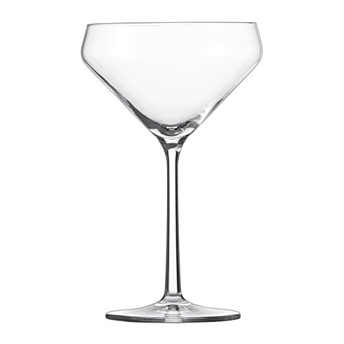 Schott Zwiesel Tritan Crystal Glass Pure Stemware Collection Martini Cocktail Glass, 11.6-Ounce, Set of 6 (Martini Crystal Glasses)