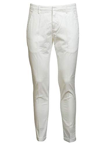 Blanco Up235gs021uptd000 Dondup Pantalón Mujer Algodon UaCWORwX