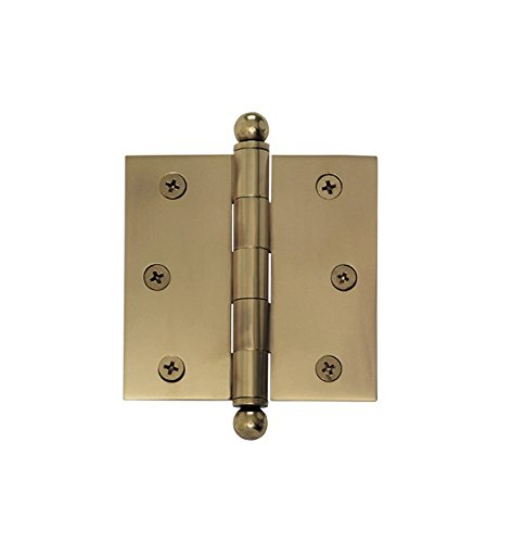 Ball Tipped Hinge - Nostalgic Warehouse Ball Tipped Hinge, Small, Small, Antique Brass