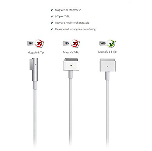 MacBook Air Charger, Ac 45w 2 (T-Tip) Connector Power Adapter Charger for MacBook Air 11-inch and 13 inch (for MacBook Air Released After Mid 2012) by koea (Image #4)