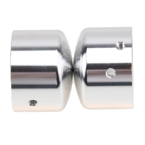 2PCS Chrome Front Axle Nut Cover Cap For Harley Softail Dyna V-Rod Touring Trike