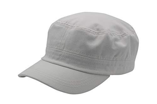 Quality Merchandise Cadet Army Cap - Military Cotton Hat, WHT ()