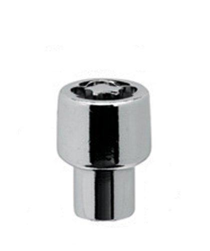 White Knight 42210 Chrome Mag Wheel Lock with Socket Puzzle Key - 4 Piece (Socket P35)