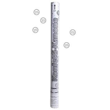 Konfetti Kanone Silberne Hochzeit Jubilaum 25 In Silber 60 Cm