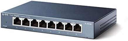 TP-Link 8 Port Gigabit Ethernet Network Switch Ethernet Splitter Sturdy Metal