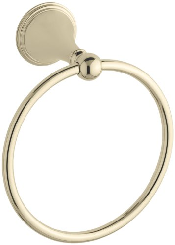 KOHLER K-363-AF Finial Traditional Towel Ring, Vibrant French Gold by Kohler