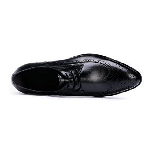 Hombres De Negocios Jóvenes Lyzgf Caballero Zapatos De Cuero De La Manera Del Cordón Negro En Punta Informal Precio más grande del proveedor Obtener para comprar en venta Venta lSJlZTQ0A