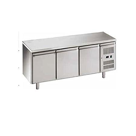 Mesa Congelador Gastronomia GN1/1 Ventilado 3 puertas acero ...