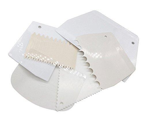 Cake scraper 6pcs set kootips smoother comb set cake edge for Kitchen tool set of 6pcs sj