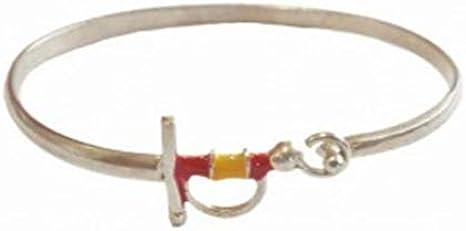Pulsera Estoque de plata - Plata, 19,5 cm: Amazon.es: Ropa y accesorios