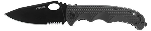 Part Serrated Edge Kershaw Knives (Coast TX395 Tactical Folding Knife)