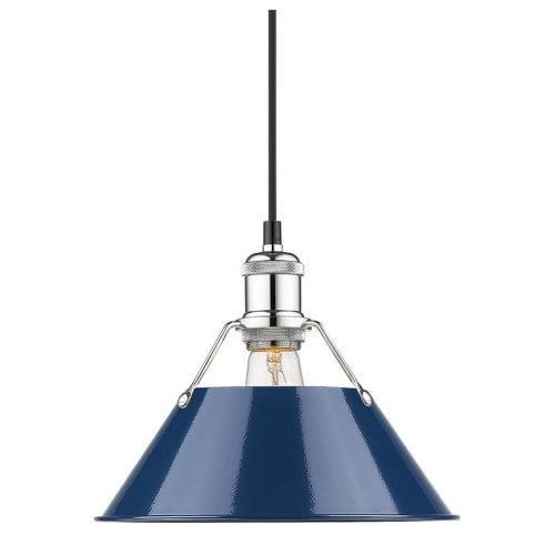 Navy Blue Pendant Light in US - 3