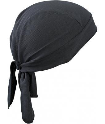 atmungsaktives Kopftuch - Functional Bandana Cap - neue Farben 2016 one size,Black