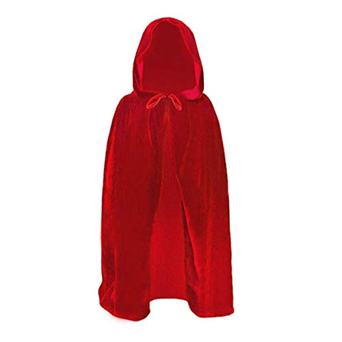 Bartz Kids Hooded Cloak Halloween Christmas Cosplay Costumes Velvet Devil Witch Wizard Robe