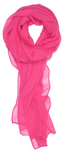 (Ted and Jack - Solid Silk Lightweight Accent Scarf in Rose)