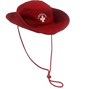 5ccae92711ab3 Image Unavailable. Image not available for. Color  Lifeguard Bucket HAT Red