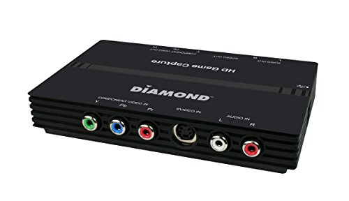 Diamond Multimedia USB 2.0 High Definition (HD) Video Capture Box with Component Video Loop-Through. Capture & Edit Your Games from Xbox 360 & PS3 (GC500). For Windows 10, 8.1, 8, 7 by Diamond Multimedia