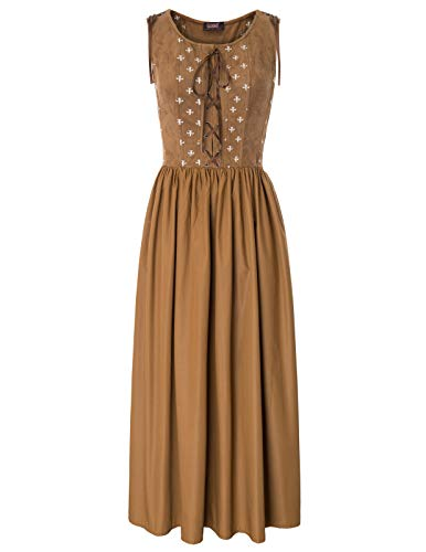 SCARLET DARKNESS Womens Renaissance Costume Medieval Irish Over Sleeveless Dress SL000028