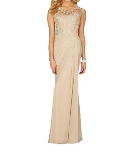 Spitze Braut Abendkleider Festlichkleider Blau Marie Navy La Brautmutterkleider Chiffon Beige Langes HqX5WB
