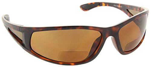 Fiore Oceanside Polarized Wrap Nearly Invisible Line Bifocal Sunglass Readers [Tortoise, 2.00] (Bifocal Polarized Sunglasses)