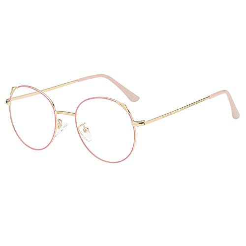 AKwell Round Vintage Optical Eyewear with Blue Light Blocking Lenses Retro Style Metal Frame Eyeglasses -