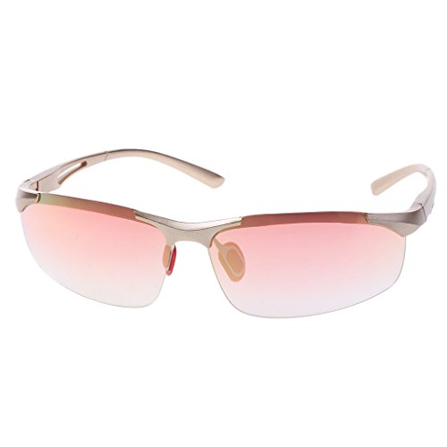 ForHe Professional Polarized Cycling Glasses Sports Outdoor Goggles Casual Sunglasses (Pink)