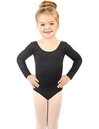 Kids Girls' Basic Long Sleeve Leotard (Size 2-14 Years)...