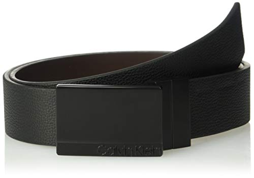 Calvin Klein Men's 35mm Reversible Pebble Leather Belt, black, 36
