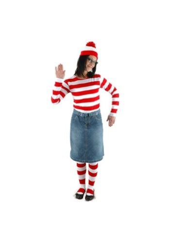 elope Where's Waldo Adult Medium/Large Wenda Costume ()