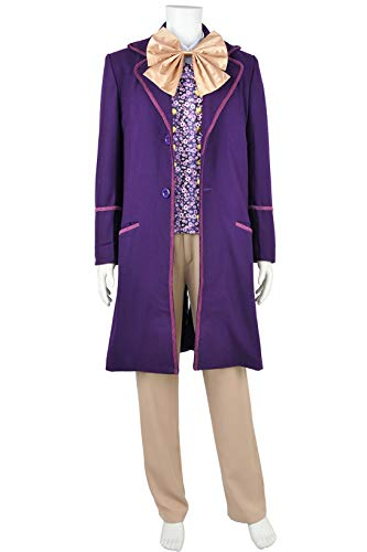 Charlie and The Chocolate Factory Willy Wonka Cosplay Costume Full Set L -
