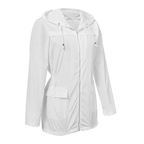 De Lluvia Ropa Mujer Chaqueta Saoye Abrigo Chaquetas Cazadora Blanco Con Fashion Capucha Impermeables Eqq10