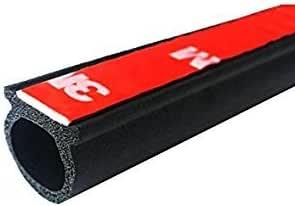 M M SEALS A175-3F D-Shape Weather Stripping Door Seal Hollow Black 3 Feet