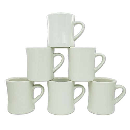 Coletti COL104 Vintage Restaurant Coffee Mugs | Coffee Mug Set of 6, 10 oz (Classic Coffee Mug)