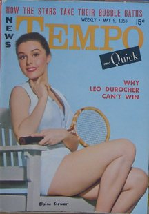 Elaine Stewart Cover Of Tempo/Quick Digest Size Mens Magazine From The 1950s - Tempo Magazine