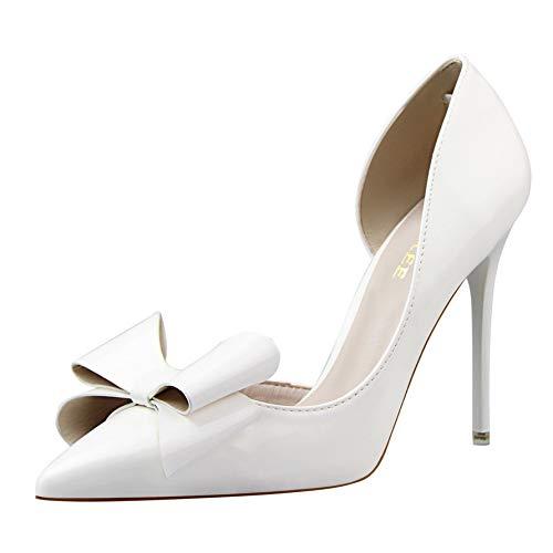 A 35 EU FLYRCX Esvoiturepins Doux Talons Aiguilles en Cuir Verni Sexy Chaussures Simples Chaussures de Mariage des Femmes Chaussures de soirée