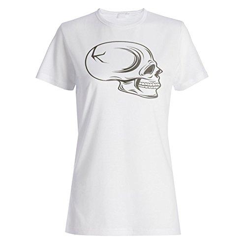 Schädel-Inspirations-Weinlese-lustige Neuheit Damen T-shirt b117f
