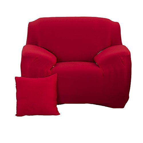- WOMACO Stretch Armchair Slipcover Arm Chair Elastic Couch Cover 1 Seats Pet Dog Cat Sofa Protector (1 Seater (35-55''), Wine Red)