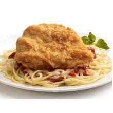 Tyson Red Label Select Cut Golden Crispy Breaded Chicken Breast Portioned Filet, 3.5 Ounce - 2 per case. by Tyson