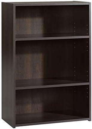 Sauder Beginnings 3-Shelf Bookcase in Cinnamon Cherry