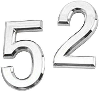 COMFORT INNOVATION 2PCS Modern House Sign Door Number Address Digit Plaque Wall Sticker 2 / COMFORT INNOVATION 2PCS Modern House Sign Door Number Address Digit Plaque Wall Sticker 2
