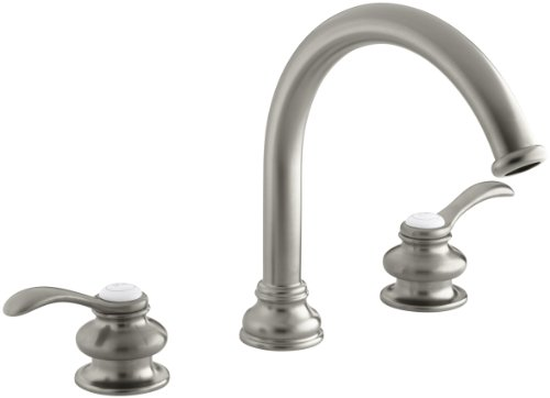 - KOHLER K-T12885-4-BN Fairfax Deck-Mount Bath Faucet Trim, Vibrant Brushed Nickel
