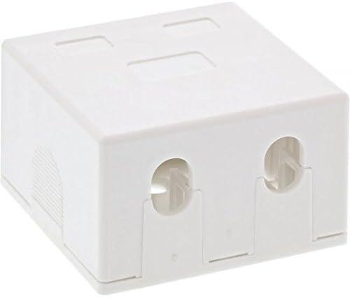 Aufputz Anschlussdose Weiß Für 2x Keystone Rj45 Buchse Computer Zubehör