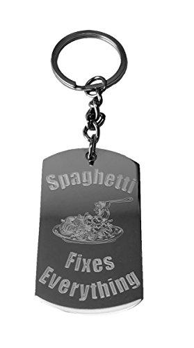 spaghetti-fixes-everything-metal-ring-key-chain-keychain