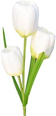 UONLYTECH Luces solares LED para jardín 3 Flores de tulipán Luces solares Flor Exterior Luces de Paisaje para Decoraciones de Jardines (Blanco): Amazon.es: Hogar