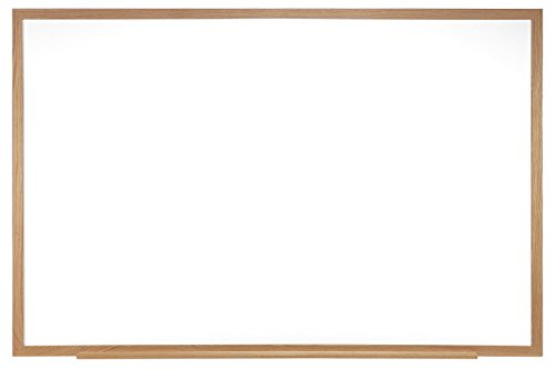 Wood Framed Porcelain Markerboard (Ghent 4 x 5 Porcelain Magnetic Whiteboard, Wood Frame, 1 Marker, 1 Eraser, Made in the USA (M1W-45-4 ))