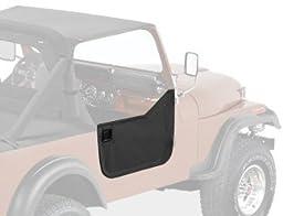 Bestop 53028-15 Black Denim Fabric Lower Half Door Set for 76-86 CJ7, CJ8 Scrambler