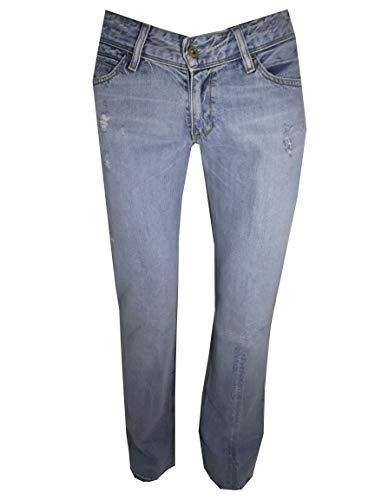 570 Bassa Levis Stright Celeste Pantaloni Donna W31l34 Strappati Vita Fit Gamba Chiaro Denim Jeans Levi's Dritta qpw544