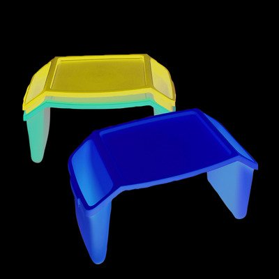 FAB860120 - Fabrication Enterprises, Inc. Plastic bed tray with side pockets