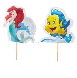 The Little Mermaid Cupcake Picks 2 Designs - Set of 12