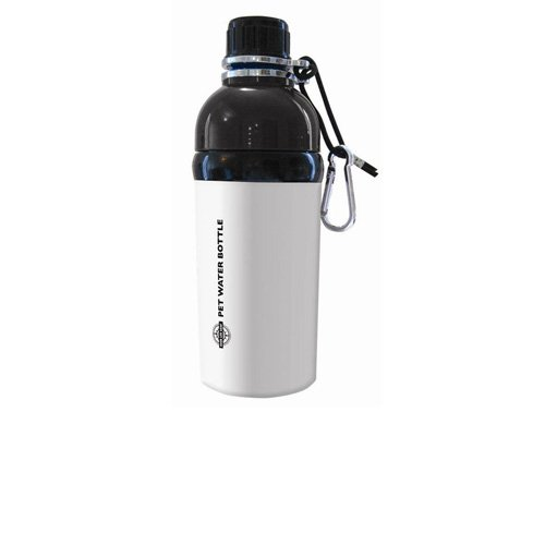 Good Life Gear Stainless Steel Pet Water Bottle, 16-Ounce, White